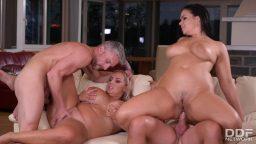 Azgın dul kadınlar dörtlü grup sex yapıyorlar
